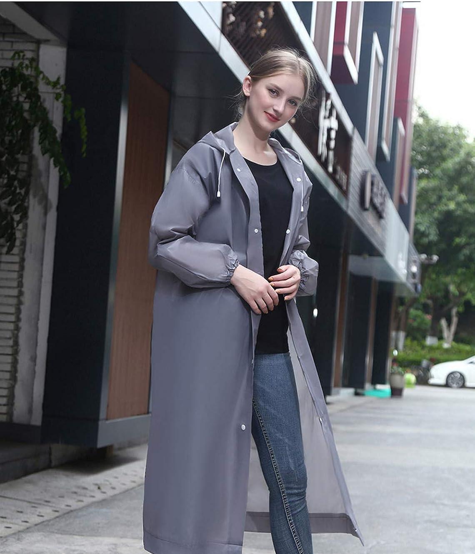 Impermeabile portatile EVA Poncho impermeabile riutilizzabile con cappuccio e maniche non tossico leggero e polsino stretto