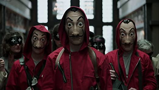 Amazon.com: Official | La Casa De Papel | Money Heist | Realistic Movie Prop Face Mask: Clothing