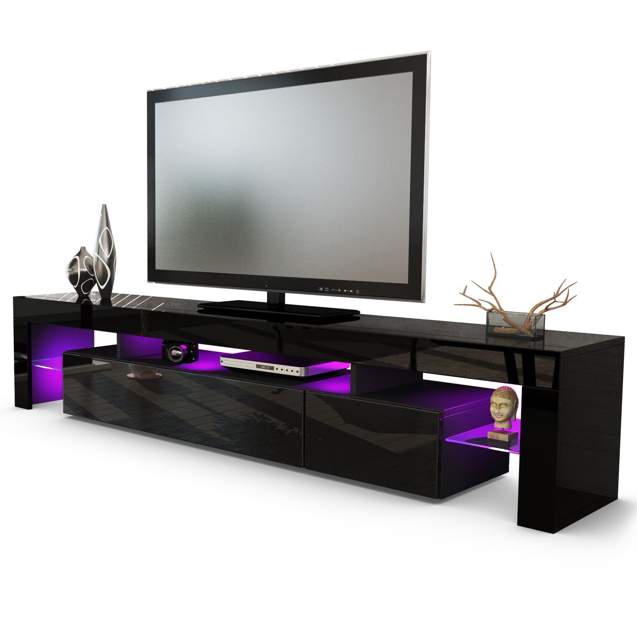 meuble tv bas armoire basse lima v2. Black Bedroom Furniture Sets. Home Design Ideas