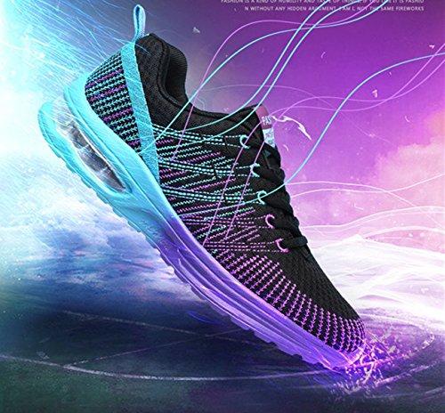 scarpe mesh uomo moda uomo estate slip Bebete5858 in marchio vera casual scarpe on traspirante pelle scarpe viola estive da morbido confortevole qfwtg5B