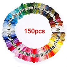 SODIAL(R)150 skeins of multicolored embroidery thread for cross-stitch
