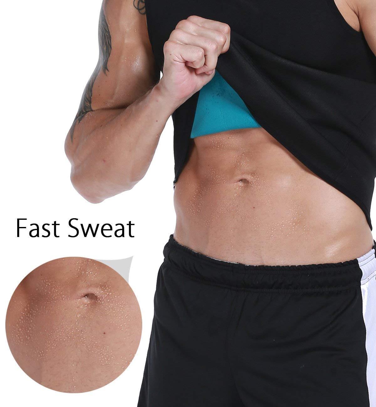 74893c2e57 Men Neoprene Waist Trainer Vest Weight Loss Hot Sweat Slimming Body Shaper  Sauna Tank Top Workout Shirt Shapewear No Zipper   Team Immortal   Forever  Fit ...
