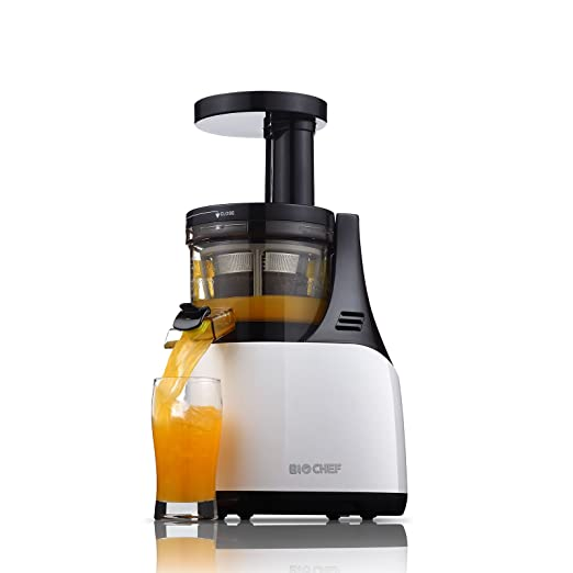 BioChef Synergy Slow Juicer - Licuadora de Prensado en Frío para Frutas y Verduras, Extractor de zumos Cold Press, Tecnología EPT y Operación Silenciosa: ...