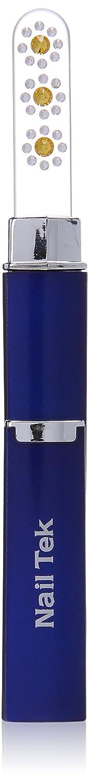 NAIL TEK Crystal File Swarovski Edition, Yellow Crystals with Cobalt Blue Case NI-55583