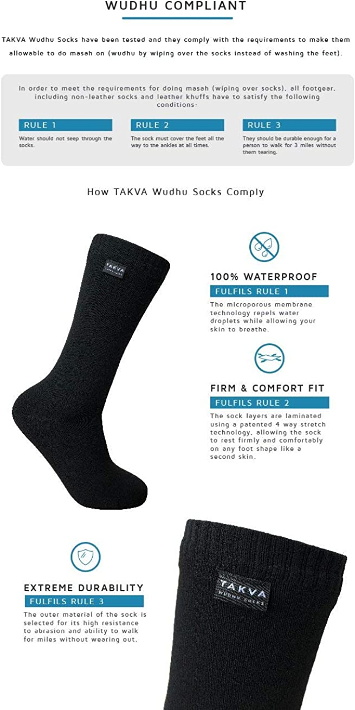 Anti-odor TAKVA Wudhu Socks Unisex Breathable Waterproof socks