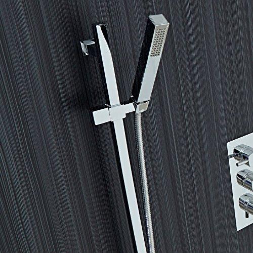 square slider rail shower kit. Black Bedroom Furniture Sets. Home Design Ideas