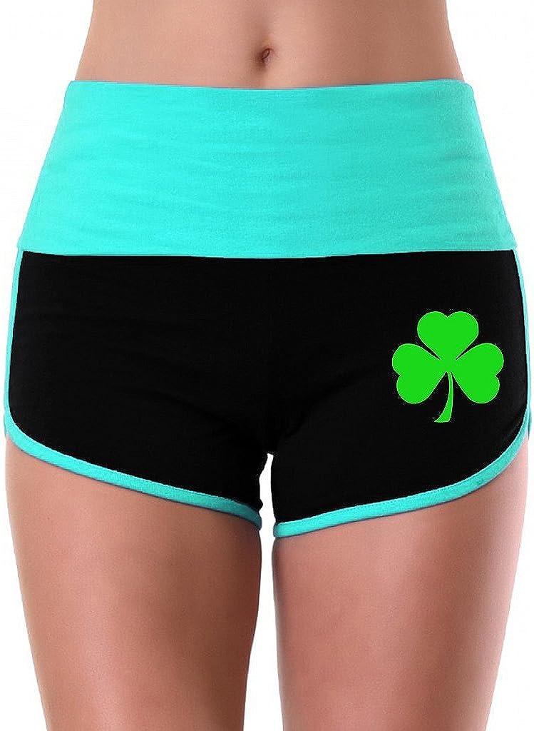 Womens Green Shamrock V369 Mint//Black Athletic Workout Yoga Shorts