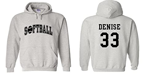332249d29 Amazon.com : Fair Game Custom Softball Hoodie : Softball Apparel ...
