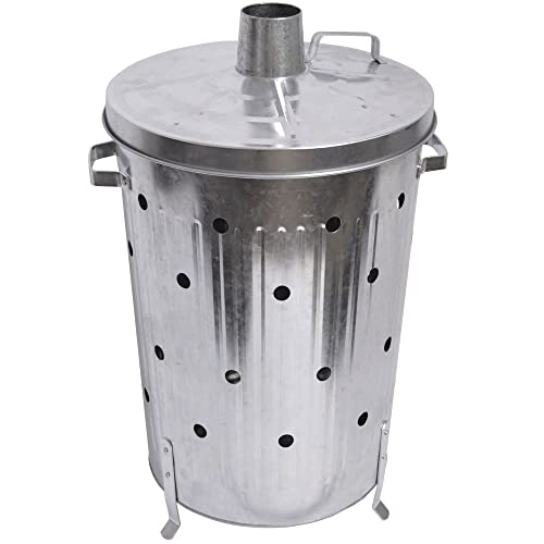 Denny International® FIRE INCINERATOR 90L Fast Burner Holes All The Way Up for Paper and Garden Rubbish