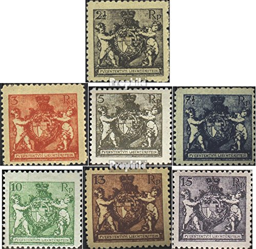 Liechtenstein 46B-52B (complete.issue.) 1921 Coat of arms with Putten (Stamps for collectors) Coat Of Arms Issue