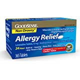 GoodSense Allergy Relief Loratadine Tablets, 10 mg, 365-Count Allergy Pills for Allergy