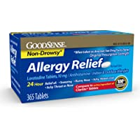 GoodSense Allergy Relief Loratadine Tablets, 10 mg, 365Count Allergy Pills for Allergy Relief