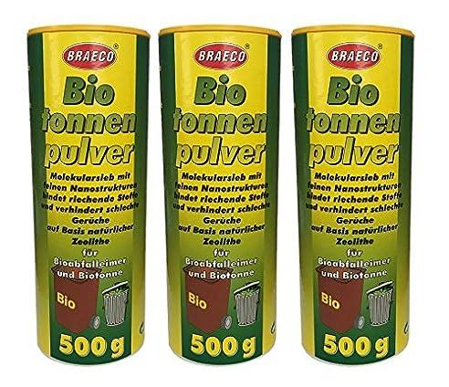 6 x 500g Biotonnenpulver Mülleimer-Pulver Madenvernichter, gegen ...