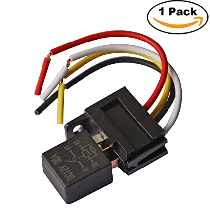 amazon com ehdis 4 pin wires cable relay socket harness connector directed electronics parts ehdis 4 pin wires cable relay socket harness connector 12vdc 30a spst multi purpose heavy