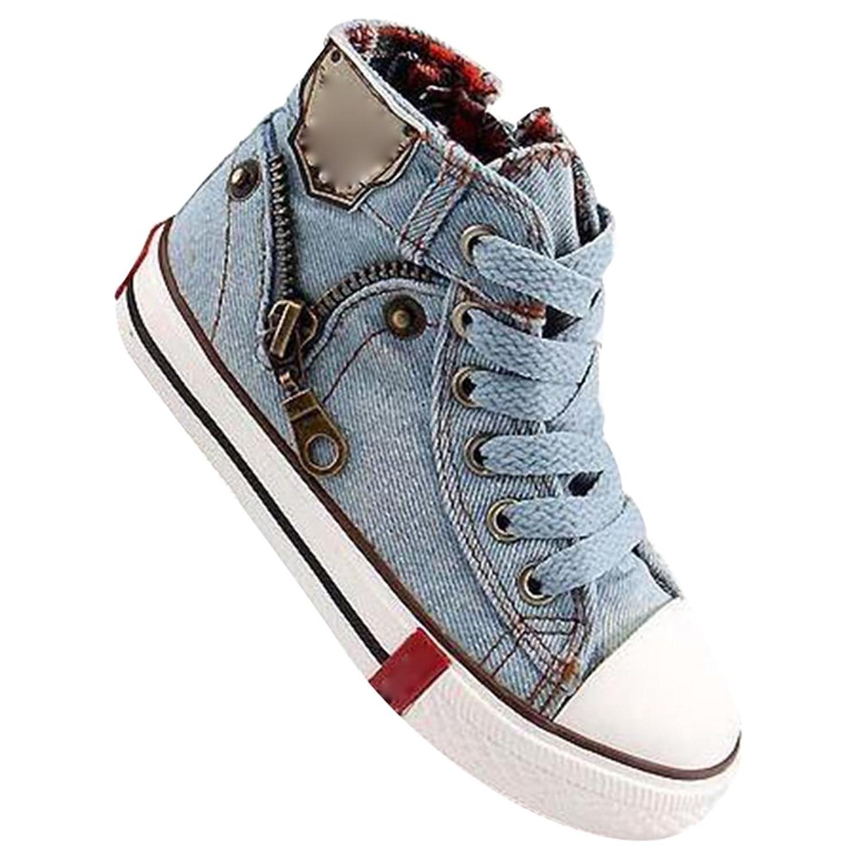 hibote Deporte Niños Zapatos Lona Respirables Las Zapatillas Deporte Jeans Denim Niño