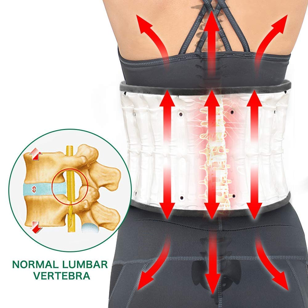 Leawell Electric Pump Back Brace Back Relief Belt|Health Decompression Back Belt for Lower Back Pain Posture Correct QY04 Size L(Waist 36''~42'') by Leawell (Image #7)