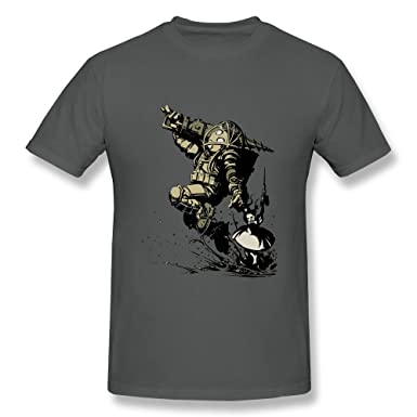amazon com koyee men s bioshock little sister and big daddy t shirt