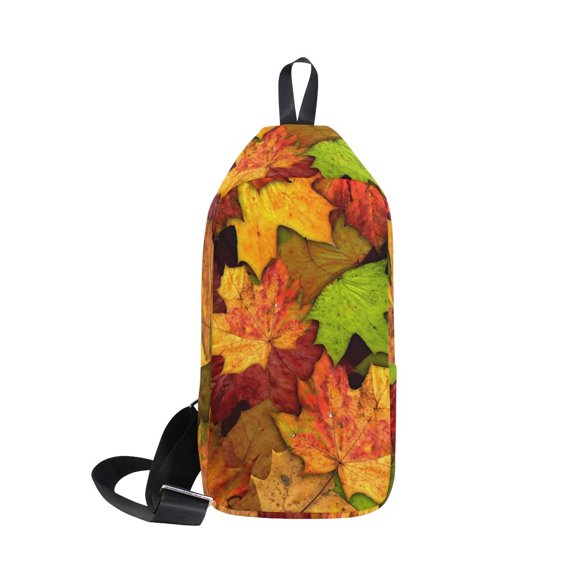 TFONE Autumn Fall Maple Leaf Crossbody Bag Lightweight Chest Shoulder Messenger Pack Backpack Sling Bag