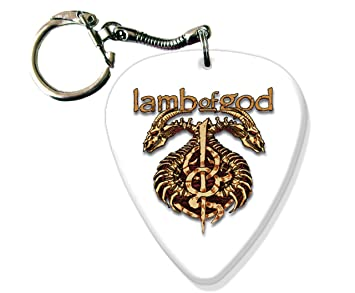 Lamb of God BIG Guitarra Pick Llavero Band Púa Para: Amazon ...
