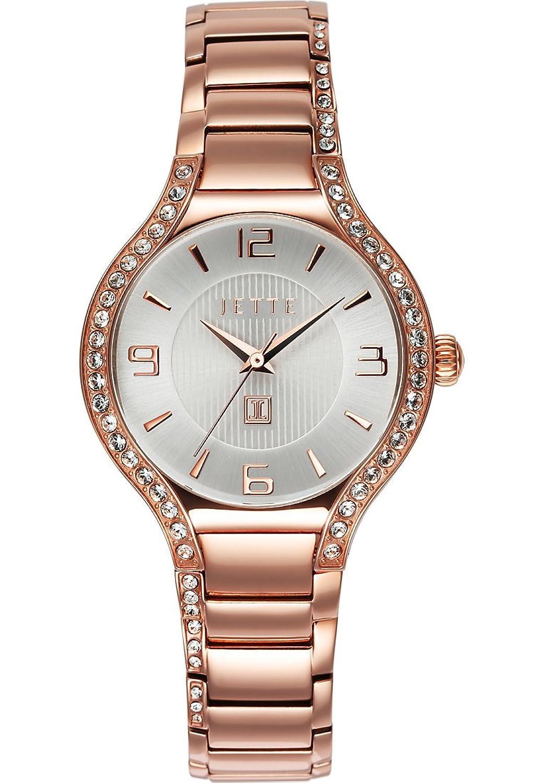 JETTE Time Damen-Armbanduhr Snail Analog Quarz One Size - silber - rosÉ