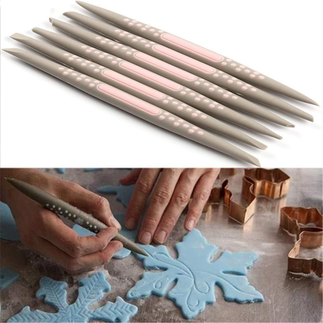 Herramientas de Escultura Frmarche Juego de 6 Herramientas de Modelado para decoraci/ón de Tartas