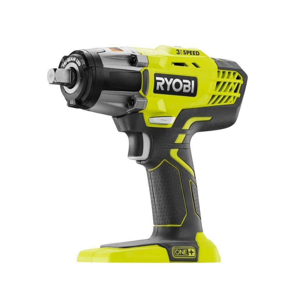 Ryobi P261 18 Volt One+ 3-Speed 1/2 Inch Cordless Impact Wrench w/ 300 Foot Pounds of Torque and 3,200 IPM (Batteries Not Included, Power Tool Only) by Ryobi