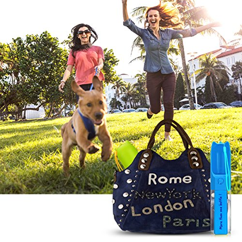 XUANRUS Dog Travel Water Bottle, Portable Pet Water Dispenser Drink Bottle for Daily Walks, Hiking, Camping, Beach, BPA Free Plastic with Pet Food Box by XUANRUS (Image #5)