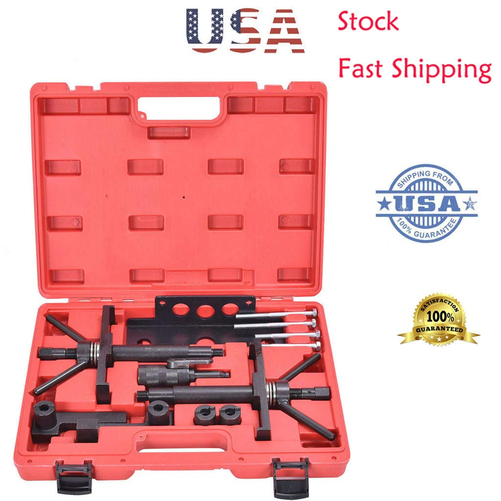 Engine Crankshaft Timing Kit for Volvo Camshaft Cam Alignment Tool Kit Fit Locking Tool Fixture【Ship from USA】 Amiley (Black)