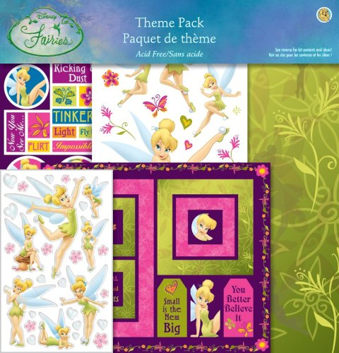Sandylion PDFATP1 Scrapbook Themepack with Stickers, Paper, and Frame Kit, Disney Fairies