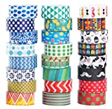 Coffee Table Designs Diy 24 Rolls Washi Masking Tape Set,Decorative Craft Tape Collection for DIY and Gift Wrapping,by Mooker