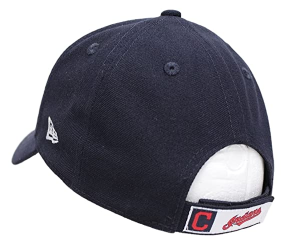 b77060db6e5 Amazon.com   New Era Cleveland Indians Youth MLB 9Forty The League  Adjustable Hat -Navy   Sports   Outdoors