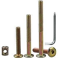 WJMY meubelschroeven M6 cilinderschroeven 65 mm / 80 mm / 100 mm, meubelverbinders meubels schroeven assortimentskit…