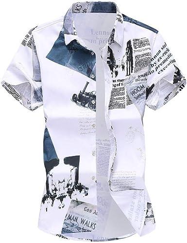 Bascar Camisa de Manga Larga para Hombre, Camisa Estampada, Camiseta, Camiseta, botón, plumón, Manga Larga, Sudadera, para Hombre, Manga Larga, Tiempo Libre, M-XXXXL: Amazon.es: Ropa y accesorios