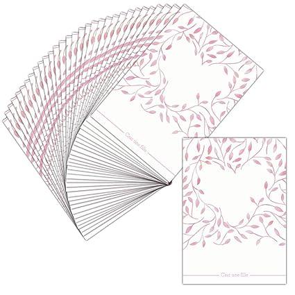 Tarjeta invitaciones de nacimiento niña - 32 tarjetas ...