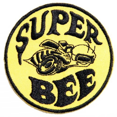 SUPER BEE DODGE CHRYSLER Logo Sign NOS Racing Car Patch Iron on Applique Embroidered T shirt Jacket Cloth Costume Gift BY SURAPAN