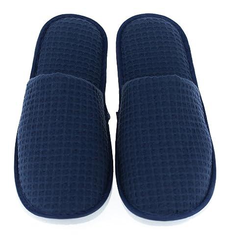 LUXEHOME Juego de 5 Zapatillas Cerrado en los Dedos de SPA de Lino Incluyen 2 Diferentes tamaño y Color: Amazon.es: Zapatos y complementos