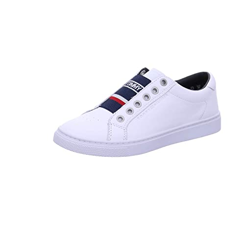 d6ed3bd49 Tommy Hilfiger Women s Tommy Elastic City Sneaker Trainers  Amazon ...
