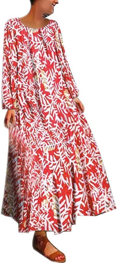 Mujer Verano De Playa Vestido Estampado Vestido De Lino Y ...