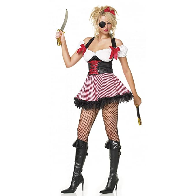 9ca2b3e75398 Costume Pirate Whench TC - Leg Avenue.Costumi da Piratesse e Bucaniere -  Costumi Sexy  Amazon.it  Abbigliamento