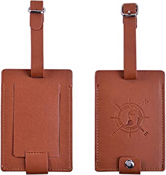 Yellow Cute Llama Luggage Tags Bag Travel Labels For Baggage Suitcase