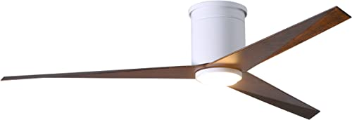 56 in. LED Ceiling Fans in Gloss White