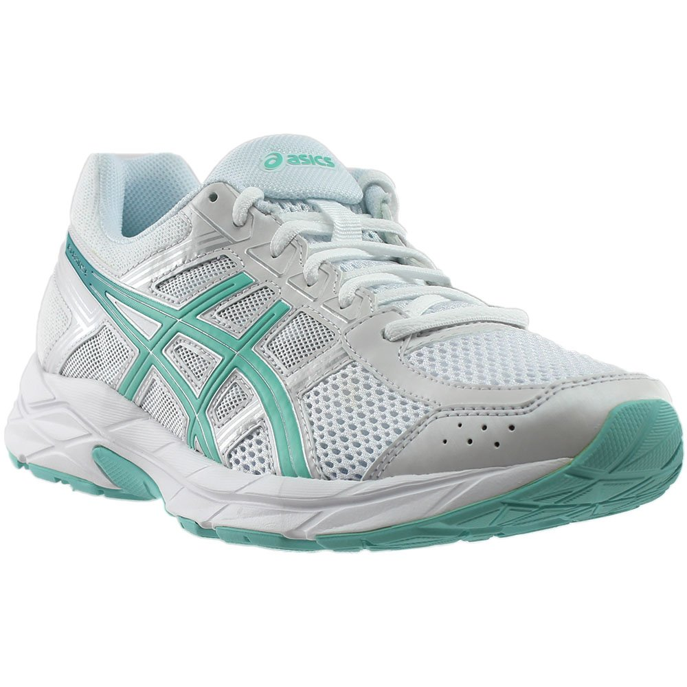 ASICS Women's Gel-Contend 4 Running Shoe B071P231J1 7.5 M US|White/Aruba/Silver