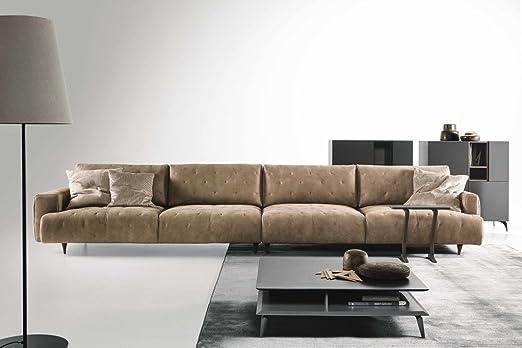 DITRE ITALIA sofá ecléctico de Piel marrón 4 plazas Maxi ...