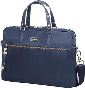"""SAMSONITE Karissa Biz - Bailhandle 15.6"""" Briefcase, 40 cm, 10.5 liters, Blue (Dark Navy)"""