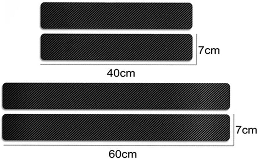 Auto Styling Accessories BNHHB 4Pcs Carbon Fiber Leather Kick Plates Stickers for Seat Arona Car Door Sill Step Threshold Scratch Paint Resistant Protective Film