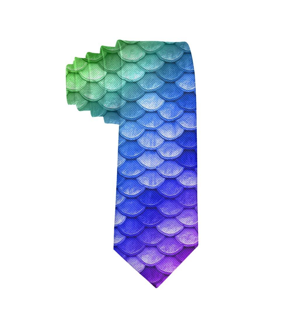 MrDecor Corbata de Negocios Colorida con diseño de Escamas de ...