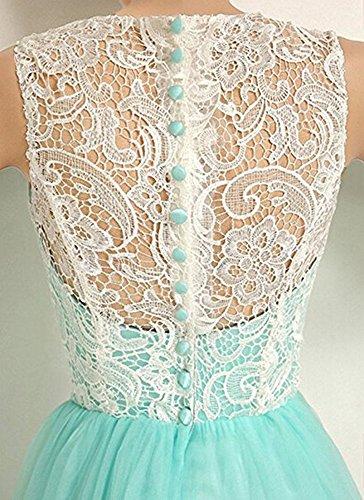 Bessdress Robes De Bal En Dentelle Tulle Longue Robes De Bal De Demoiselle D'honneur Fête Du Soir Bd081 Blanc 1