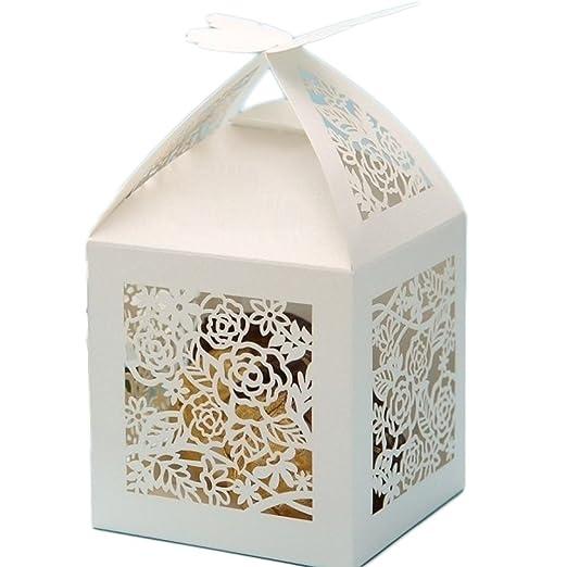 15 opinioni per PONATIA 50 PCS Butterfly favorisce la scatola di caramella / contenitori di