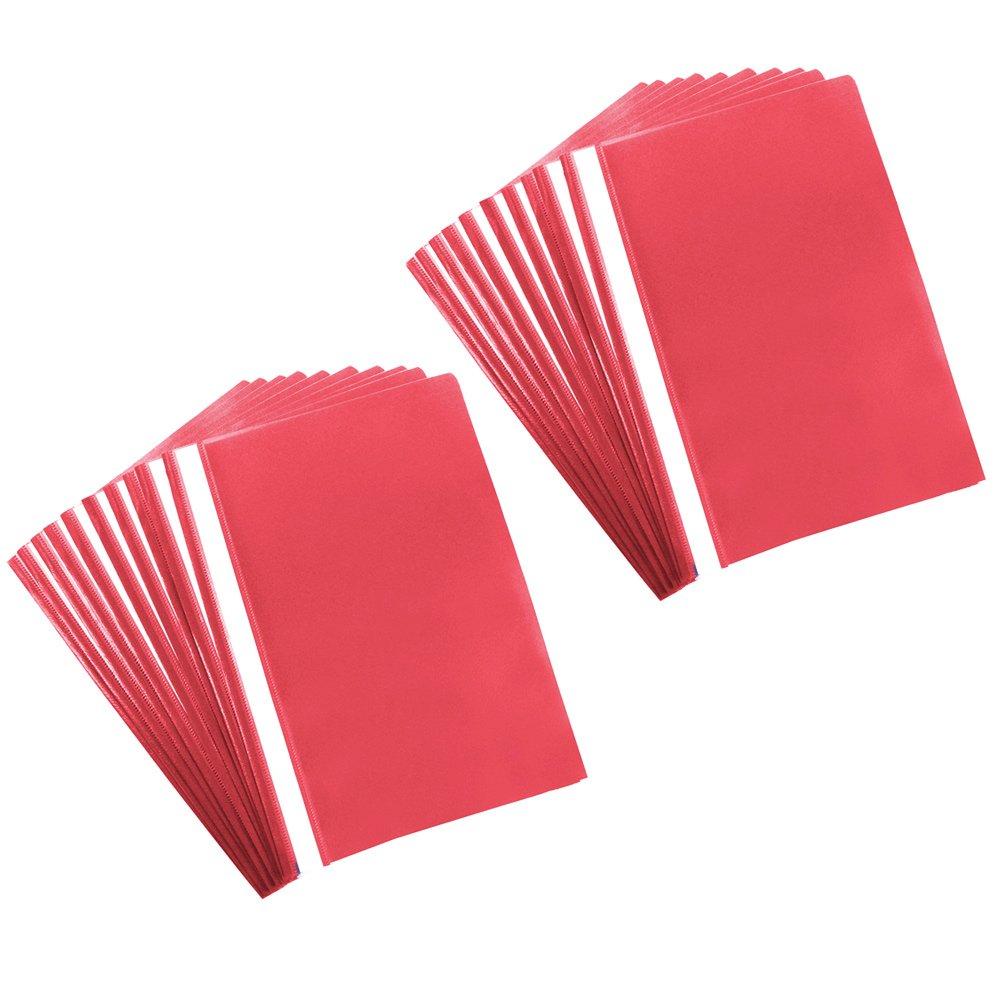 B/üro und zu Hause com-four/® 20x Schnellhefter DIN A4 PVC-frei Kunststoffhefter f/ür Schule Hefter mit Beschriftungsstreifen 20 St/ück - lila