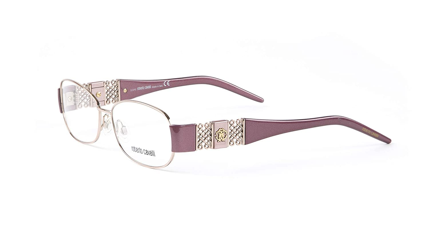 641992b478 Amazon.com  Roberto Cavalli Camelia Eyeglass Frames 54mm Metallic Burgundy   Clothing